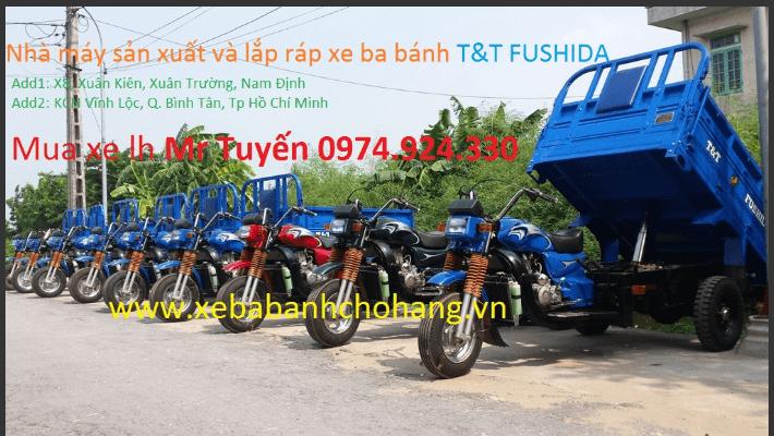 Video xe ba bánh chở hàng Fushida