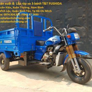 Xe ba bánh chở hàng T&T Fushida 250cc loại có ben thủy lực