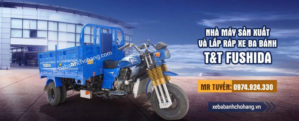 Xe ba gác bánh đôi máy Loncin 250cc
